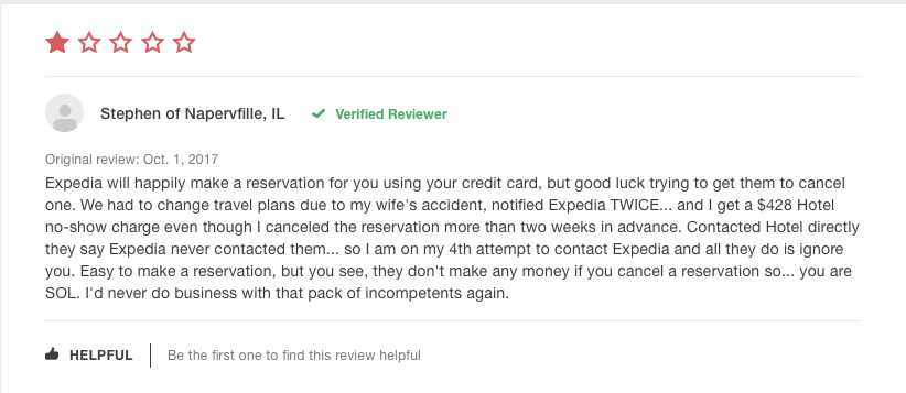A common review from an unhappy OTA customer…
