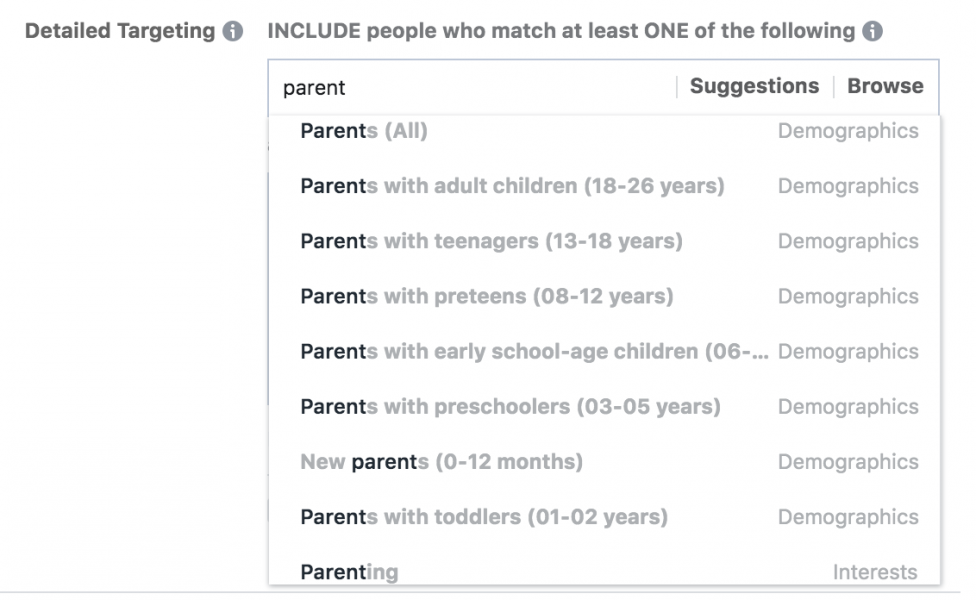FB-parent-tageting-976x600 How smart operators are personalising their ads to capture new audiences
